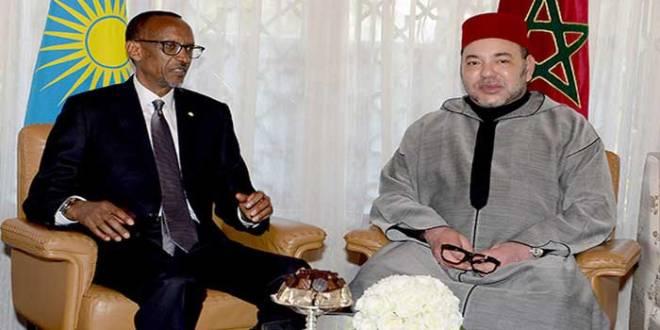 Roi du Maroc et le President rwandais.