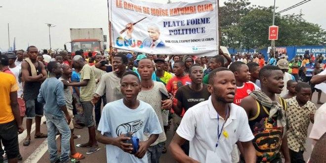 Les partisans d'Etienne TSHISEKEDI lors de son arrivée, Kinshasa, 27 Juillet 2016.