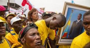 Partisans de Joseph Kabila lors d'une manifestation