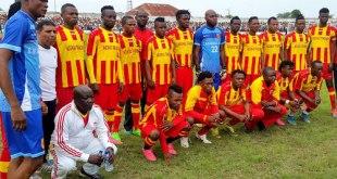 Les joueurs de l'équipe congolais Sanga Balende.