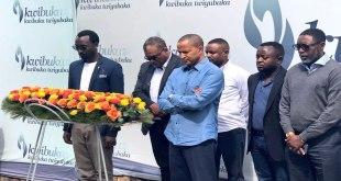 Moise KATUMBI [devant] et Co. au Rwanda.
