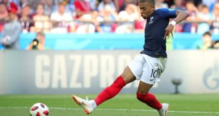 Kylian Mbappe scoring against Argentina, Saturday 30th day of June 2018.