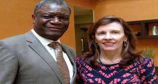 Dr Denis Mukwege [left] and Fistula Foundation CEO Kate Grant