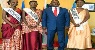 Pierre Nkurunziza received in audience Miss Burundi 2017.