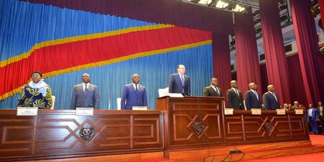 Les deux chambres du parlement en RDC réunies en congrès, 19 Juillet 2018.