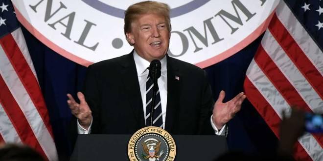 Donald Trump, lors de la réunion d'hiver du Comité national républicain