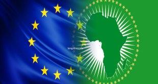 Drapeaux de l'UE et de l'UA. Photo montage - kongotimes.info.