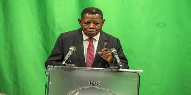 Lambert Mende Omalanga, porte-parole du Gvnt RDC