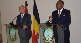 Didier REYNDERS et Manuel AUGUSTO, conference de presse, Luanda