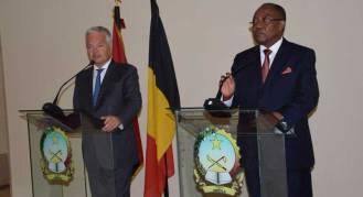 Didier REYNDERS et Manuel AUGUSTO, conference de presse, Luanda.
