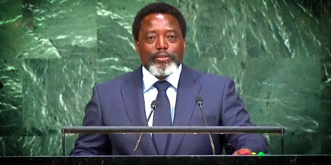 Joseph KABILA, président de la RDC, lors de son discours a l'ONU.