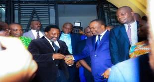Corneille NANGAA [droite], president de la CENI-RDC et Joseph KABILA [gauche], président de la république.