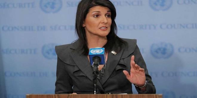 Nikki HALEY, ambassadrice des Etats-Unis auprès de l'ONU.