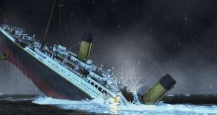 Titanic : Photo d'un bateau en train de couler.