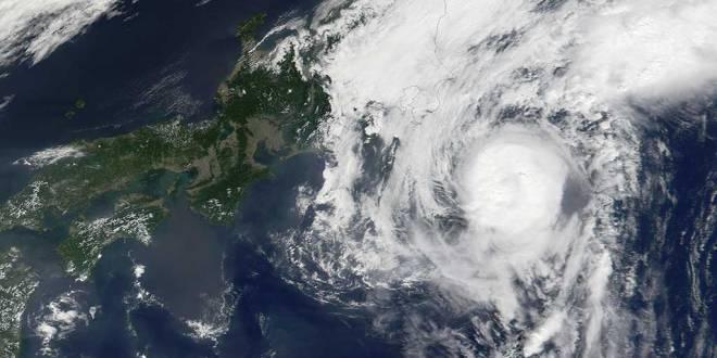 Typhons au Japon