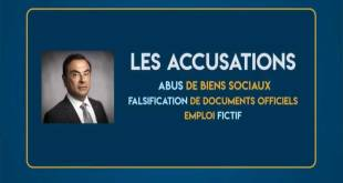 Carlos Ghosn - les accusations de la justice japonaise.