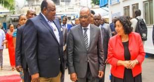La cheffe de la MONUSCO, Leila Zerrougui, accompagnée des autorités congolaises lors de la journée des casques bleus.