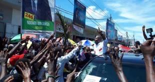 Martin FAYULU dit Mafa en campagne électorale.