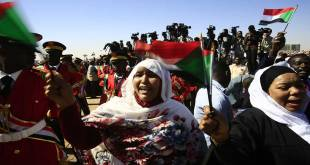 Rassemblement des partisans d'Omar El-Béchir à Khartoum, 09 Janvier 2019.