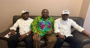 De gauche a droite - Martin FAYULU, Lisanga BOGANGA et Adolphe MUZITO.