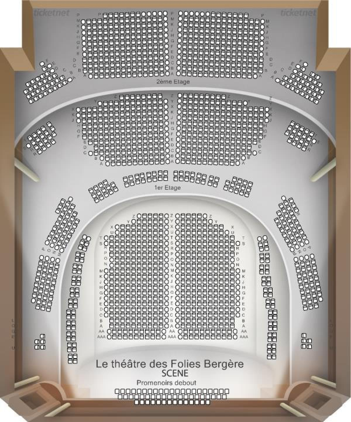 Carte De La Folie De La Vierge : carte, folie, vierge, Folies, Bergere, Carte, (France)