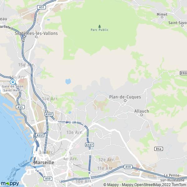 Plan Marseille Carte De Marseille 13013 Et Infos Pratiques