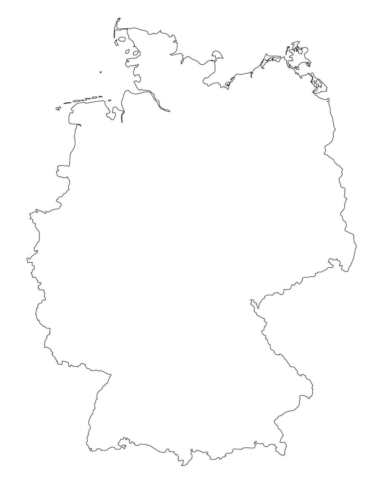 Carte Allemagne Le Contour De La Carte De L Allemagne