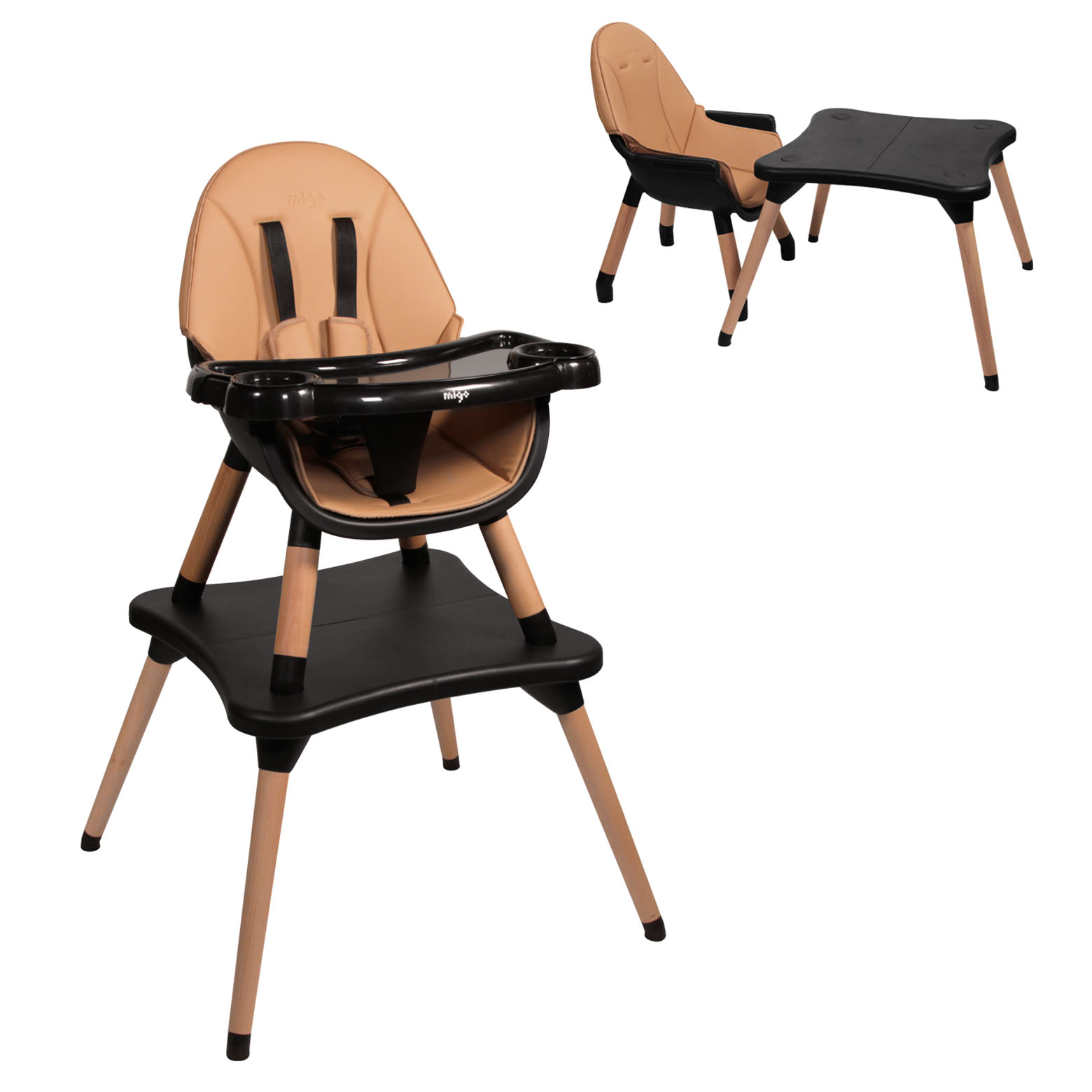 chaise haute 2 en 1 eva evolutive a partir de 6 mois