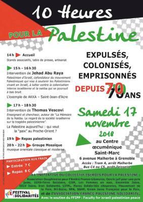 Promotion des campagnes BDS lors de l'évènementSource: Compte Facebook AFPS Grenoble 38
