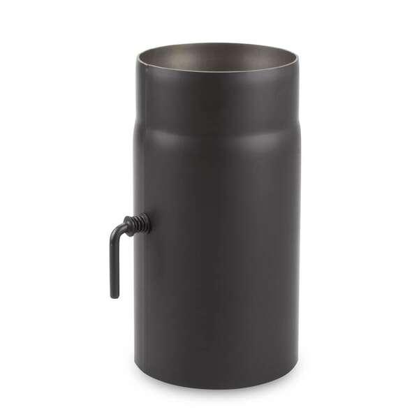 o 150 mm tube droit 25 cm avec cle de tirage noir