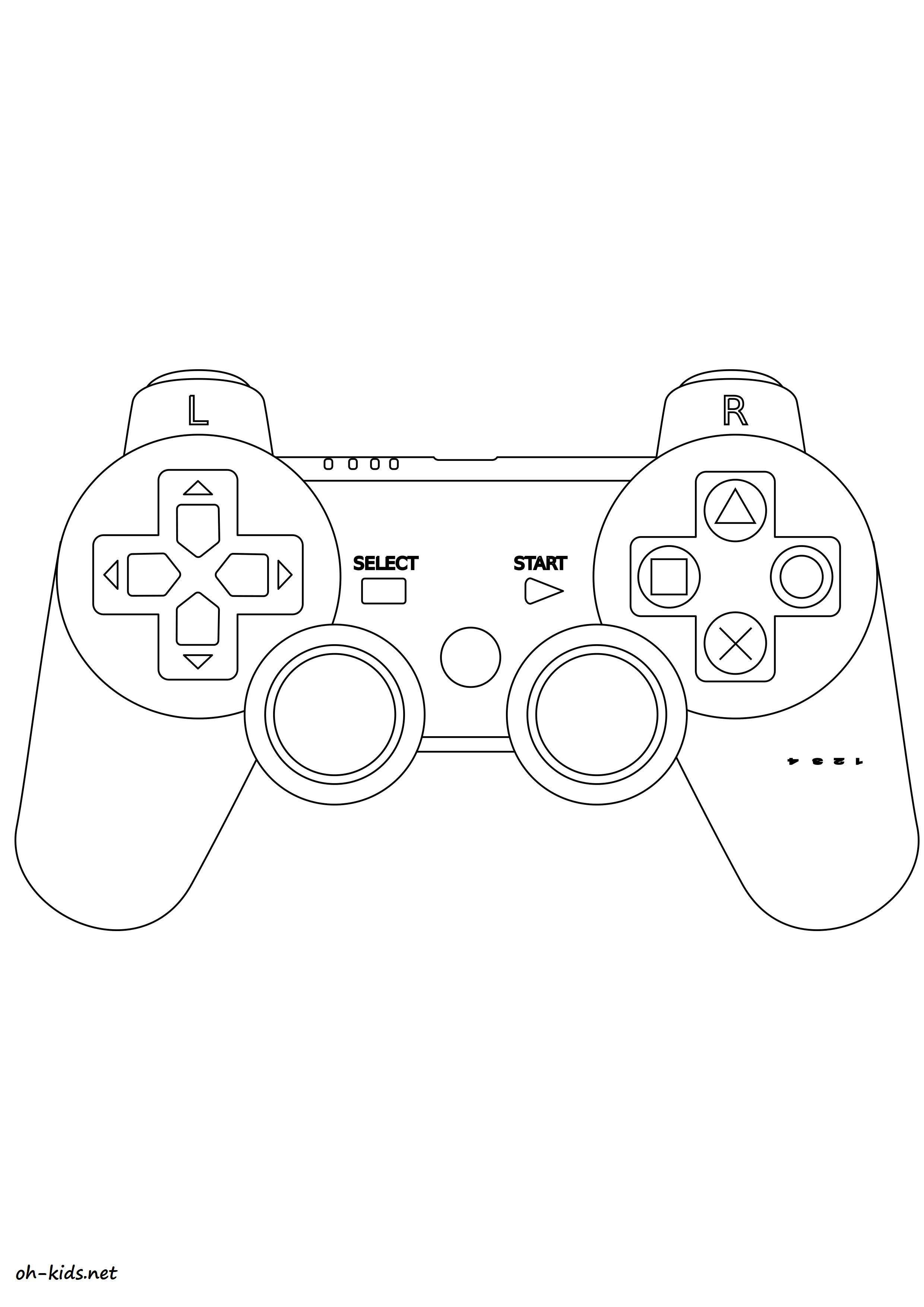 Console de jeux coloriage - Jeux de coloriag ...