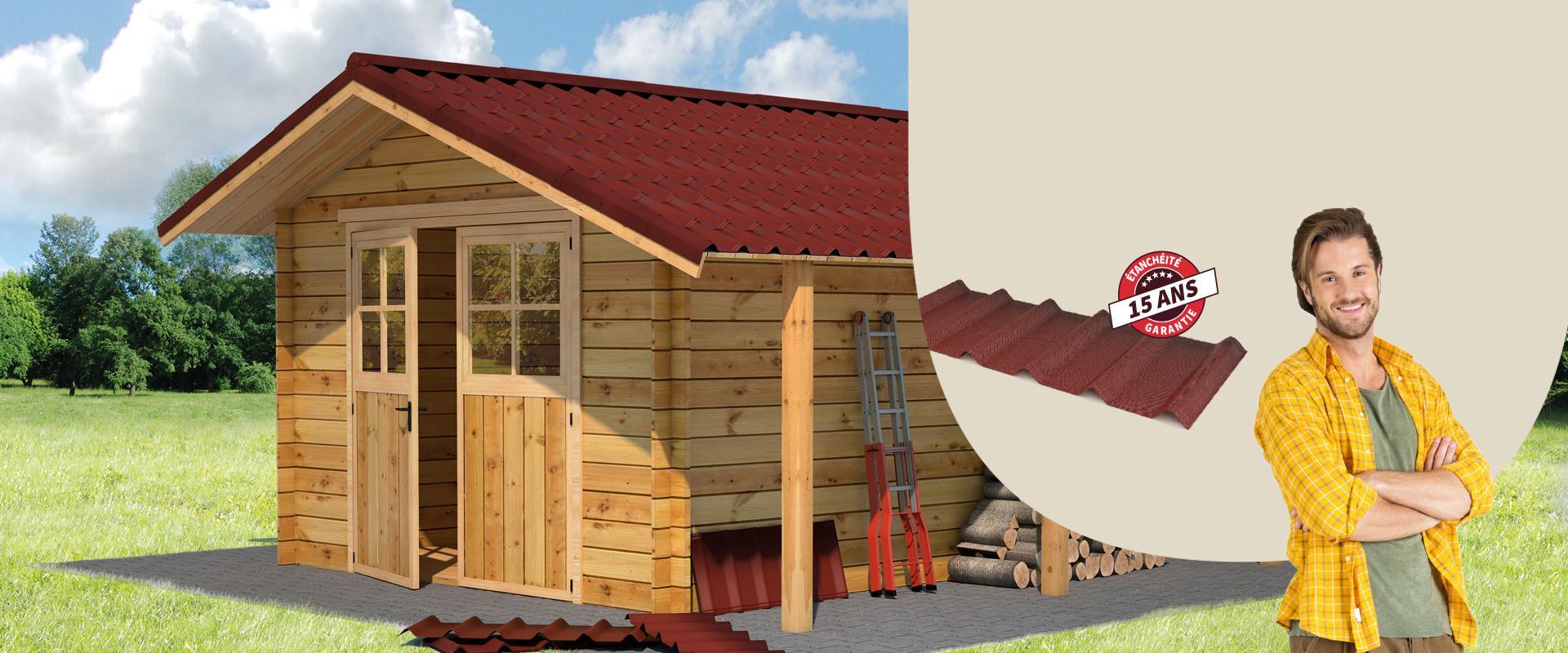 toiture de cabane abri de jardin