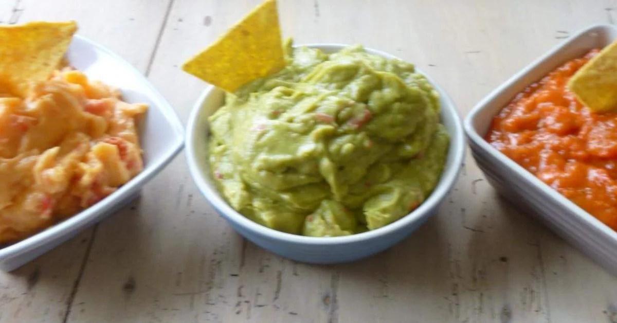 3 sauces pour tortillas chips ou crudites