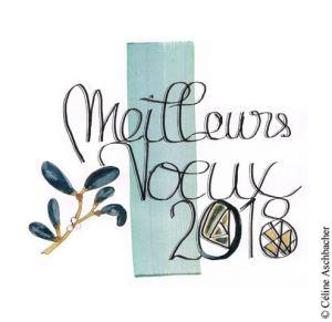 Illustration des Meilleurs Vœux 2018 de Céline Aschbacher
