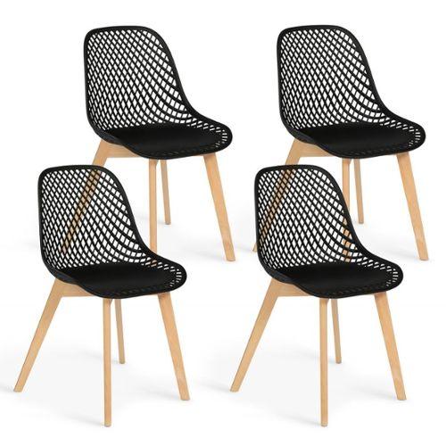 chaise noire pas cher ou d occasion