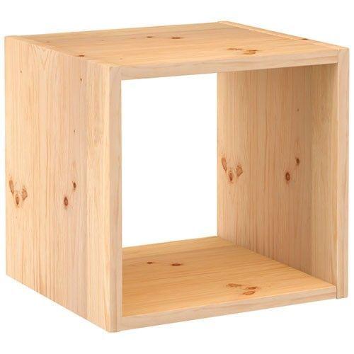 achat cube rangement bois brut pas cher