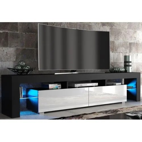 achat meuble tv blanc laque fly a prix
