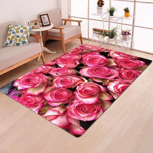 achat tapis salon rose a prix bas
