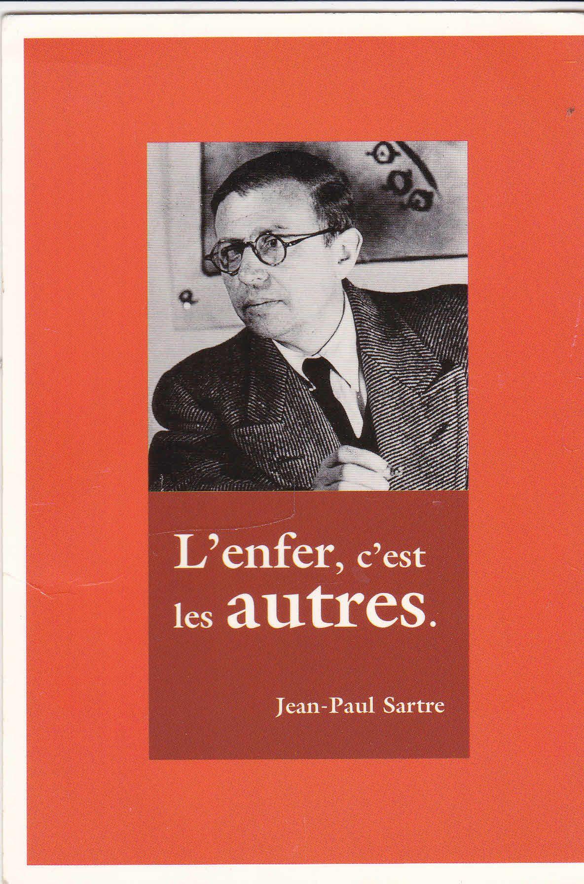 L'enfer C'est Les Autres Sartre : l'enfer, c'est, autres, sartre, Carte, Postale, Sartre,l'enfer, C'est, Autres, Rakuten