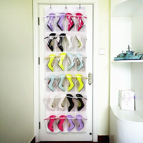 24poche sac organisateur range chaussures rangement suspendu mural porte crochet