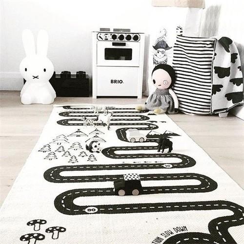 tapis de jeu pour bebe enfant circuit voiture de course 70 x 175 cm
