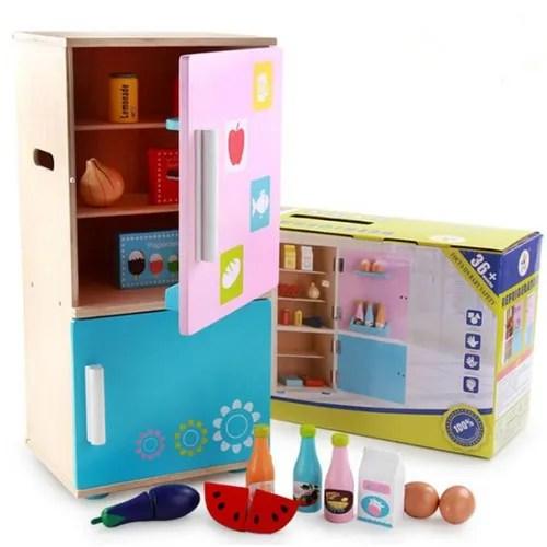 enfants de cuisine en bois jouet cuisine refrigerateur jouet