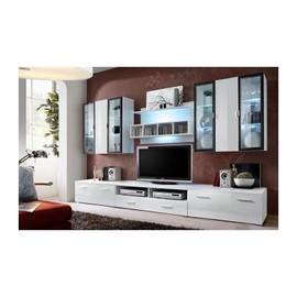 achat meuble salon blanc laque a prix