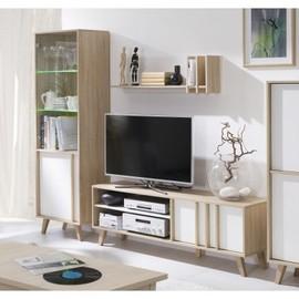 achat meuble tv bibliotheque design pas