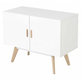 achat meuble bas blanc laque pas cher