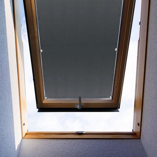 store pour fenetre de toit kinlo 60 x 93 cm gris velux rideau occultant complete avec ventouses sans percage protection solaire au revetement