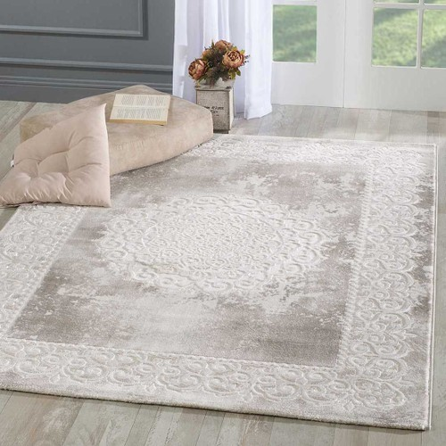 un amour de tapis tapis moderne 80x150 cm rectangulaire khy balrod beige chambre adapte au chauffage par le sol