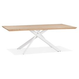 achat table chene pied metal pas cher