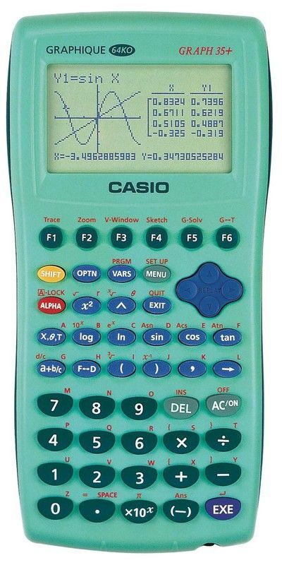 Calculatrice Casio 35+e : calculatrice, casio, Calculatrice, Graphique, Verte, Casio, Graph, Rakuten