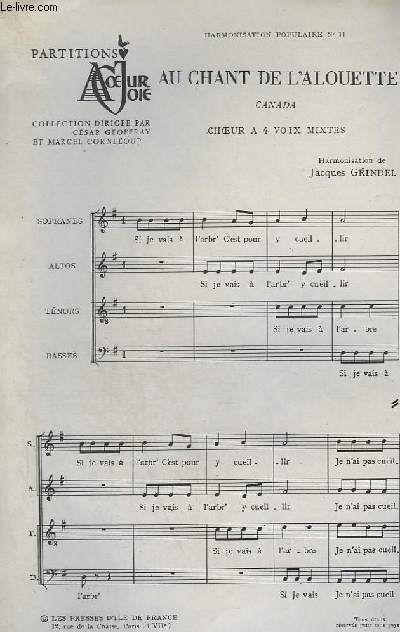 Au Chant De L Alouette : chant, alouette, Chant, L'alouette, Canada, Choeurs, Mixtes., Rakuten